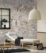 Behang Expresse Digital AK1055  Natur etno római fürdő mozaik maradványa krémfehér szürke bézs terra digitális nyomat