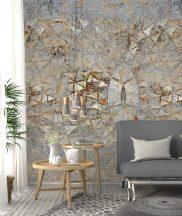 Behang Expresse Digital AK1056 Natur etno római fürdő mozaik maradványa szürke bézs barna terra digitális nyomat