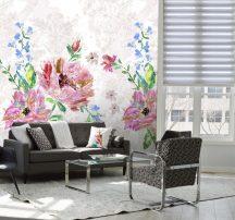 Behang Expresse Digital AK1057  Natur felnagyított virágok krém bézs rózsaszín szines digitális nyomat