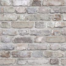Grandeco Facade FC2501 3D téglaminta szürke krém barna  tapéta