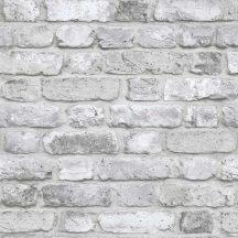 Grandeco Facade FC2503 Natur grafikai  3D téglaminta szürke fehér  tapéta