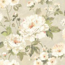 Grandeco Fiore FO3102 Margeritte virágos zöld barna fehér szines tapéta