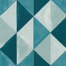Caselio Green Life 101706027 PLENITUDE Geometrikus díszítőminta szürke szürkéskék kék árnyalatok arany tapéta