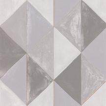 Caselio Green Life 101709020 PLENITUDE Geometrikus díszítőminta fehér szürke árnyalatok arany tapéta