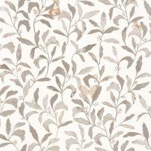 Caselio Green Life 101711027 SWEET Natur botanikus levelek pillangók fehér szürke arany tapéta