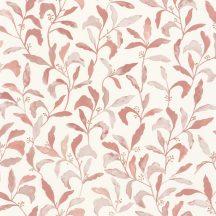 Caselio Green Life 101714020 SWEET Natur botanikus levelek pillangók krémfehér rózsaszín tapéta