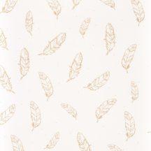 Caselio Girl Power 100962215 Gyerekszobai natur tollak krémfehér arany függöny