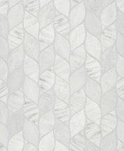Grandeco Gravity GT3202 Organikus design stilizált váltakozó strukturák törtfehér szürke árnyalatok ezüst tapéta