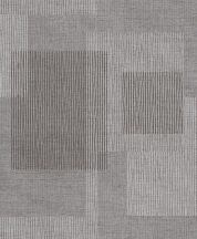 Grandeco Gravity GT3404 Geometrikus grafikus négyszögek durva szövetstrukturán szürke barna fehér csillogó mintafelület