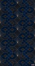 """Komar Heritage Edition 1, HX3-009 Coquilles Nuit """"Éjkék Kagyló"""" geomerikus minta digitális nyomat"""