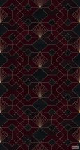 "Komar Heritage Edition 1, HX3-010  Coquilles Rouges ""Piros  Kagyló"" geomerikus minta digitális nyomat"