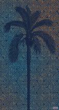 Komar Heritage Edition 1, HX3-012 Silhoutte geometrikus alapon pálmafa sziluettje digitális nyomat