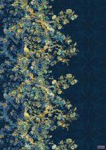 Komar Heritage Edition 1, HX4-025 Nocturne geometrikus alapon virágfolyam (girland) digitális nyomat