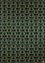 Komar Heritage Edition 1, HX4-034 Paon Vert pávatoll - pávaszem díszítőminta digitális nyomat