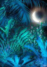 Komar Heritage Edition 1, HX4-036 Intense Trópusi éjszaka ragyogó holdkaréjjal digitális nyomat