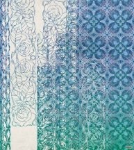 Komar Heritage Edition 1, HX5-039 Art Nouveau Blue fukncionális virág és levélmintázat digitális nyomat