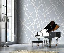 Behang Expresse Timeless INK7150 MIKADO BLEU Grafikus design kék szürkéskék fehér falpanel