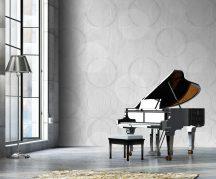 Behang Expresse Timeless INK7154 CIRCLING GREY Grafikus design óriás körök szürke fehér szürkéslila falpanel