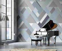 Behang Expresse Timeless INK7156 DOMINOS Geometrikus design kék zöld fehér szürke falpanel