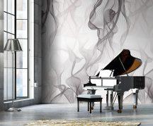 Behang Expresse Timeless INK7157 WINDINGS Grafikus design 3D Térbeli hullámok szürke lilás szürke fehér falpanel