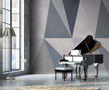"""Behang Expresse Timeless INK7160 SOLNA BLUE Geometrikus design geometria """"skandinávul"""" szürke kék szürkéskék szürkéslila falpanel"""