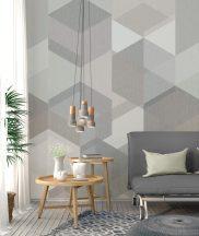 Behang Expresse Timeless INK7161 HEXA LIGHT Geometrikus design Átható hatszögek szürke bézs homokszürke árnyalatok