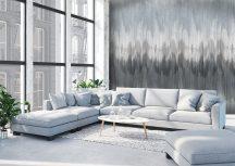 Behang Expresse Timeless INK7165 PAINTED WALL Nonfiguratív festett fal 3D szürke kék fehér szürkéslila falpanel