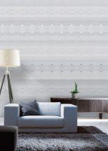 Behang Expresse Timeless INK7171 OSLO BLUE Geometrikus grafikus norvég mintás design kék és szürke árnyalatok fehér falpanel