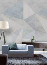 Behang Expresse Timeless INK7172 LOFT ICE Geometrikus Térbeli háromszögek 3D kék és szürke árnyalatok fjord zöld falpanel