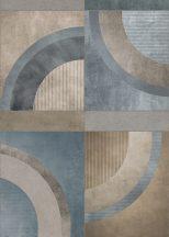 Behang Expresse Esbjerg INK7510 JONEN Nagyformátumú geometrikus minta bézs barna szürke zöldes és kékes szürke falpanel