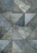 Behang Expresse Esbjerg INK7527 ESBJERG Geometrikus fémes hatású minta kék zöldeskék szürke falpanel