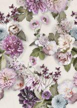 Behang Expresse Floral Utopia INK7564 SUNNY MORNING Natur virágos felnagyított virágok-rózsák szürke világoskék rózsaszín szines falpanel