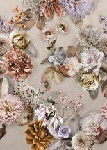 Behang Expresse Floral Utopia INK7567 AUTUMN AFTERNOON Natur őszi virágvarázs bézs barna szürke parfűm rosé szürkésbarna lila falpanel