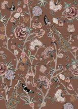 Behang Expresse Floral Utopia INK7569 POMEGRANATE BUTTERSCOTCH Organikus gránátalma virágzás tejkaramella kék zöld lila szines falpanel