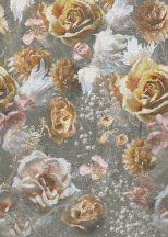 Behang Expresse Floral Utopia INK7573 LUSH HERITAGE LIGHT Virágos Buja virágörökség szürke sárga rózsaszín fehér falpanel