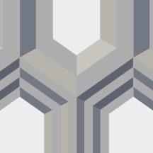 Ugepa Galactik J40708 Geometrikus 3D térbeli hatszögek krémfehér bézs szürke szürkéskék ezüst tapéta