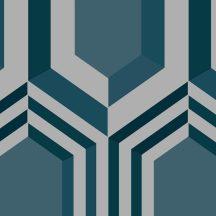 Ugepa Galactik J40711 Geometrikus 3D térbeli hatszögek kék zöld szürke ezüst tapéta
