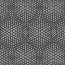 "Ugepa Galactik J50609 Geometrikus 3D ""Vasarely"" minta szürke ezüst antracit tapéta"