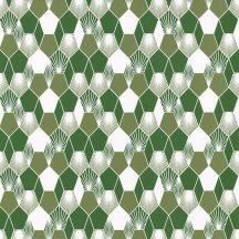 Caselio Jungle JUN100017333 grafikus design mohazöld fehér tapéta