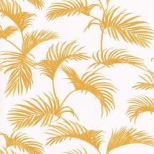 Caselio Jungle JUN100033613 natur trópusi pálmalevelek fehér okkersárga tapéta