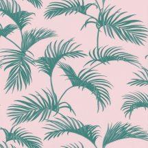 Caselio Jungle JUN100037900  natur trópusi pálmalevelek rózsaszín smaragdzöld  tapéta