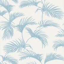 Caselio Jungle JUN100039000  natur trópusi pálmalevelek fehér gyöngyház kékes szürke tapéta