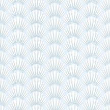 Caselio Jungle JUN100059110 baldachin fehér gyöngyház kékes szürke tapéta