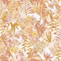 Caselio Jungle JUN100063506 Trópusi Paradicsom fehér okkersárga rózsaszín tapéta