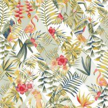 Caselio Jungle JUN100067434 Trópusi Paradicsom fehér szines tapéta