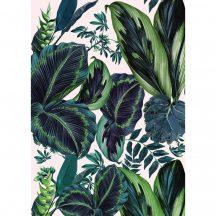 Caselio Jungle JUN100197812 dzsungel trópusi levelek fehér zöld indigókék falpanel