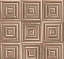 Ugepa Hexagone L44605 geometrikus 3D stilizált görögminta bronz  barna tapéta