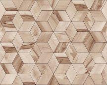 Ugepa Hexagone L59208  geometrikus 3D bézs barna tapéta