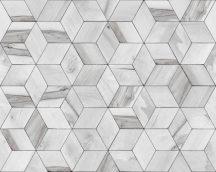 Ugepa Hexagone L59209  geometrikus 3D szürke fehér tapéta
