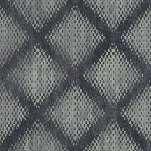 Ugepa Hexagone L60009  grafikus geometrikus 3D szürke ezüst fekete tapéta